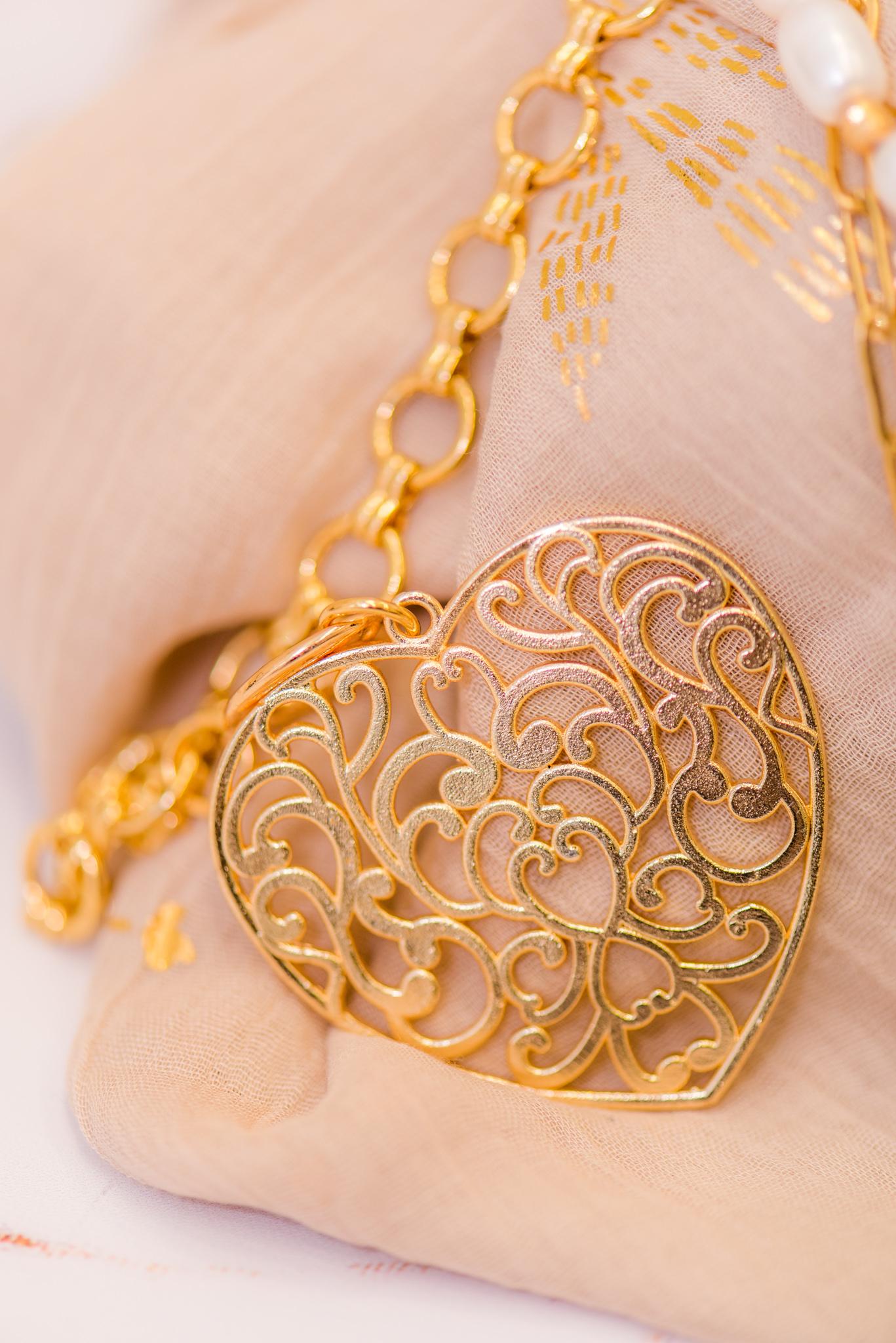 aranyozott szív medál
