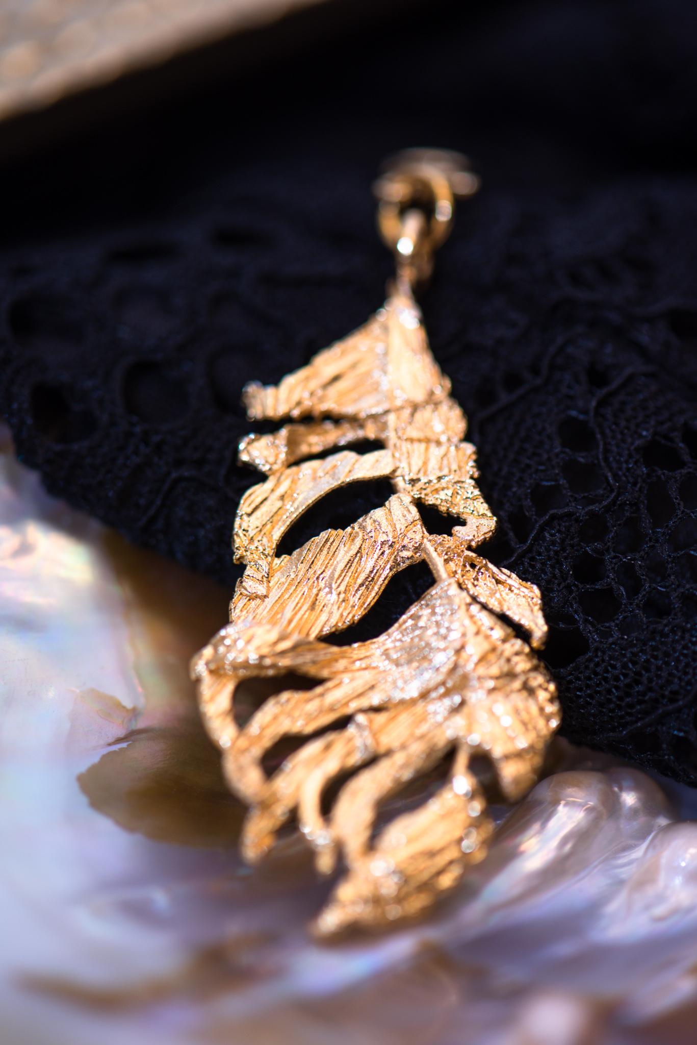 aranyozott levél medál nyaklánchoz