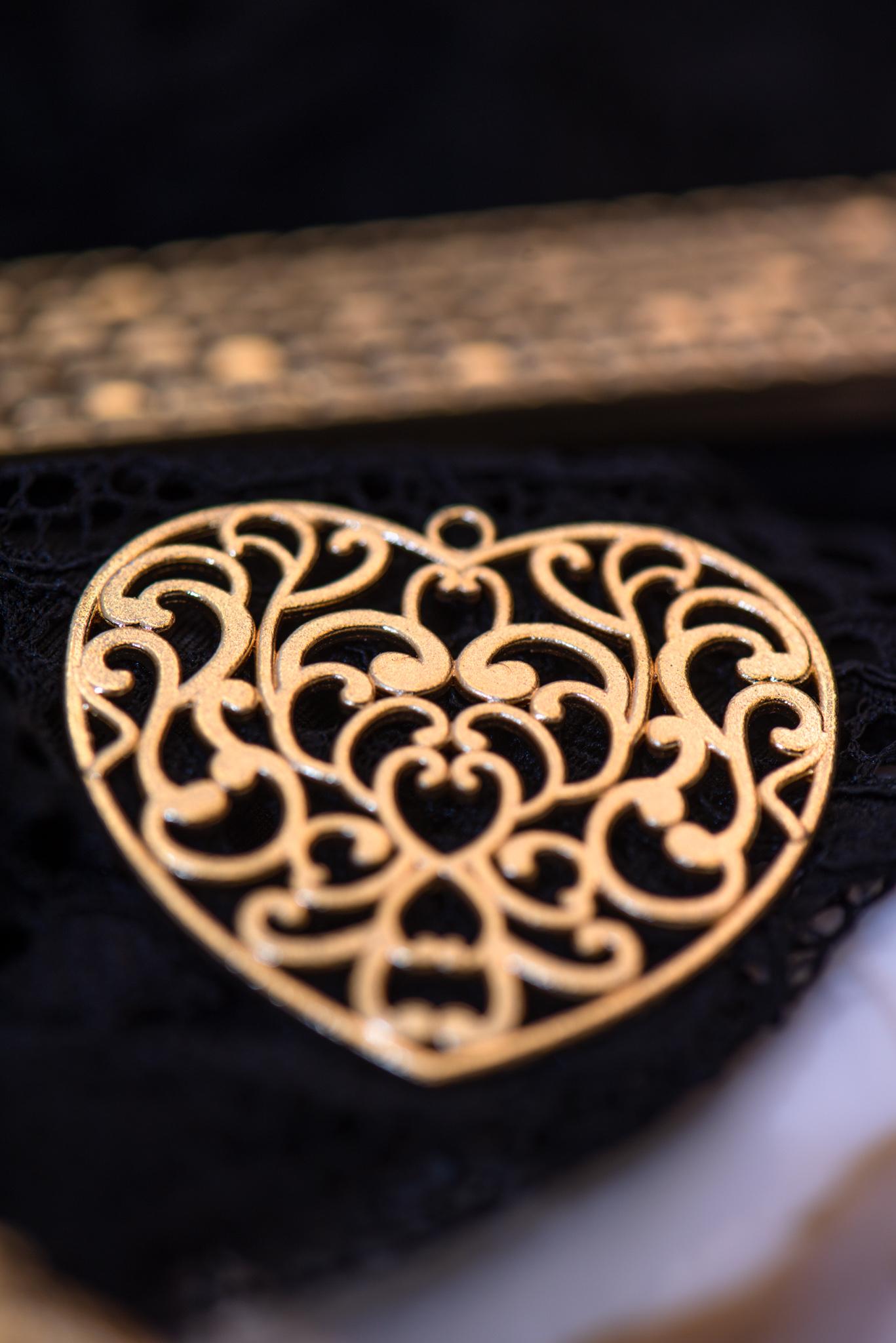 aranyozott szív medál nyaklánchoz